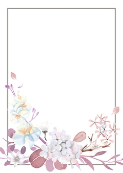 Biglietto di auguri viola e rosa