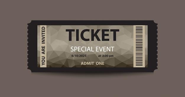 Biglietto stub scuro