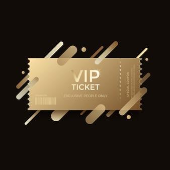 Biglietto vip dorato di lusso