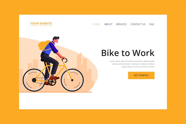 Bike to work landing page