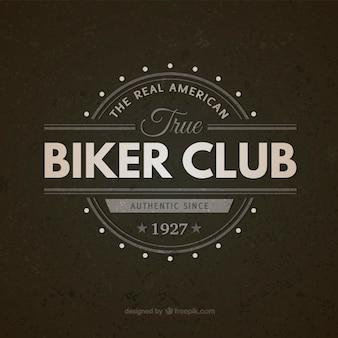 Biker club di epoca distintivo