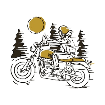 Biker rider illustration