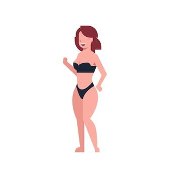 Bikini donna che balla costume da bagno nero