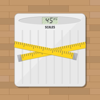 Bilancia pesapersone per bagno e nastro di misurazione