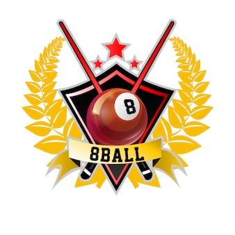 Biliardo pool e icona dello sport snooker