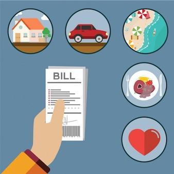 Bills disegni di pagamento
