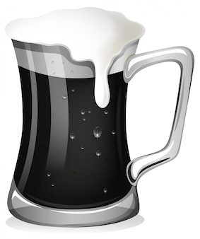 Birra fresca in bianco e nero