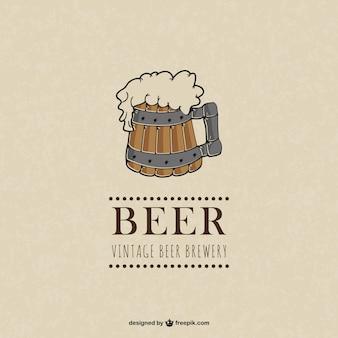 Birra illustrazione vettoriale vintage