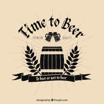 Birra vintage backgrpund