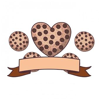 Biscotti al cioccolato freschi e deliziosi