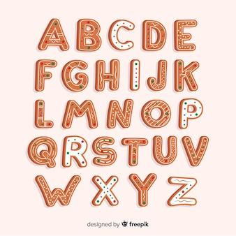 Biscotti di alfabeti di natale belli