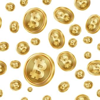 Bitcoin seamless pattern.