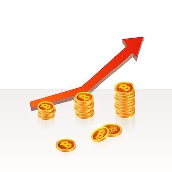 Bitcoin up concept di crescita