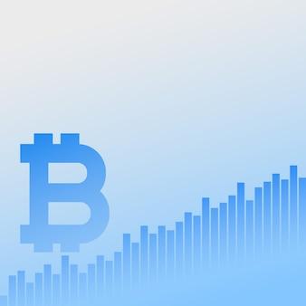 Bitcoins crescita diagramma vettoriale sfondo aziendale