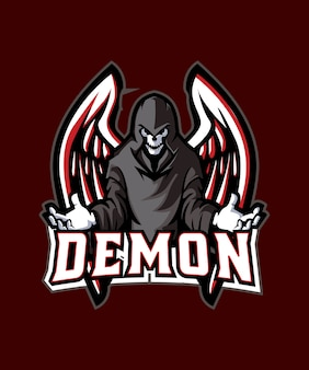 Black demon e sports logo
