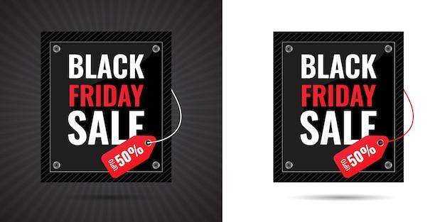 Black friday big 3d vendita speciale offerta limitata nel tempo banner percentuale di sconto per mega vendita e design di cartellini dei prezzi per post sui social media premium