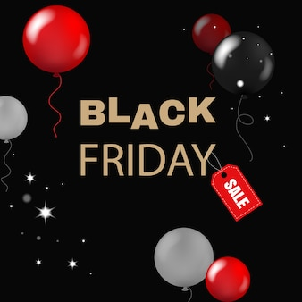 Black friday con palloncini