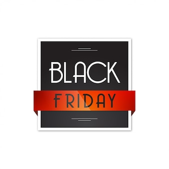 Black friday square design