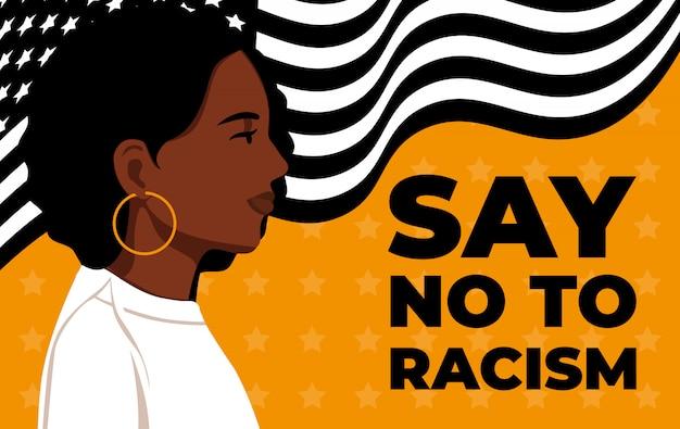Black lives matter. dichiarazione. giovani afroamericani: uomo. i cittadini neri stanno lottando per l'uguaglianza.