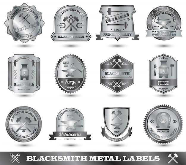 Blacksmith metal label