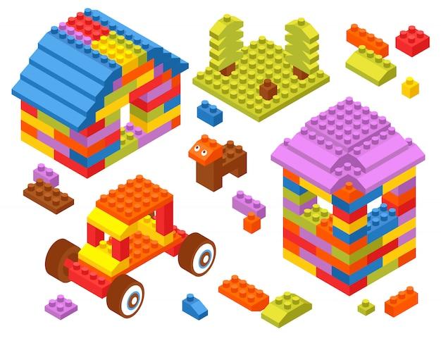 Blocchi isometrici costruttori di giocattoli