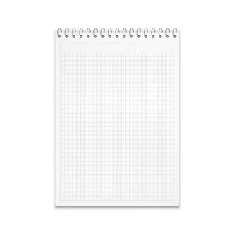 Blocco note realistico dell'illustrazione di vettore di carta quadrata.