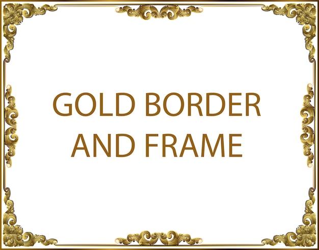 Blocco per grafici del bordo di arte tailandese dell'oro con la linea della tailandia floreale