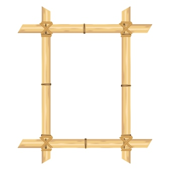 Blocco per grafici di bambù realistico isolato su bianco. illustrazioni vettoriali.
