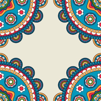 Blocco per grafici di hippy di doodle rossetes indiano