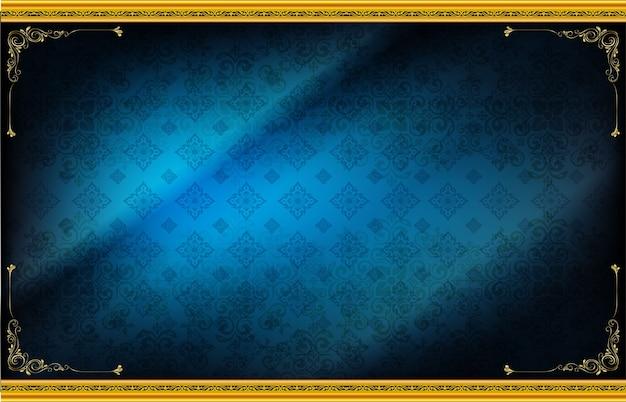 Blocco per grafici di legno sul reticolo fondo blu drak