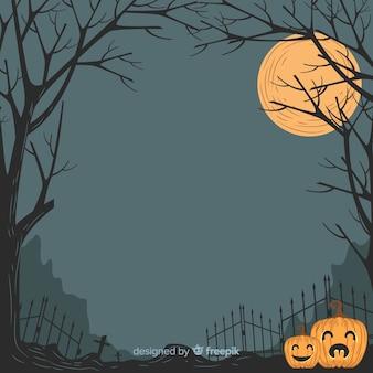 Blocco per grafici ornamentale di halloween disegnato a mano