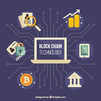Blockchain concetto infografica