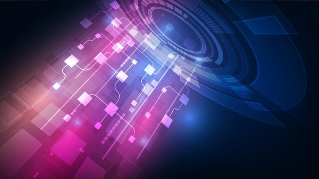 Blockchain della rete del circuito astratto