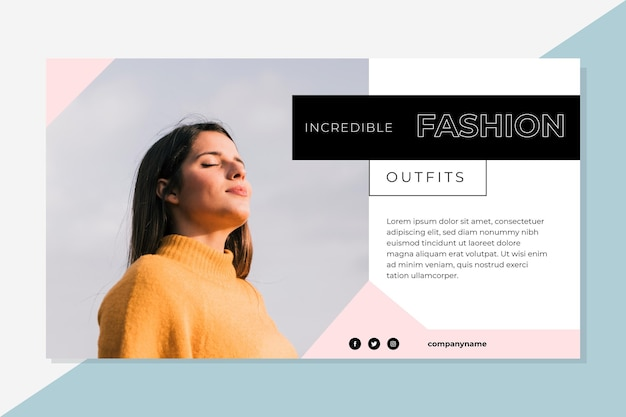 Blog di banner di moda