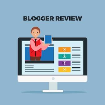 Blogger che parla su streaming online