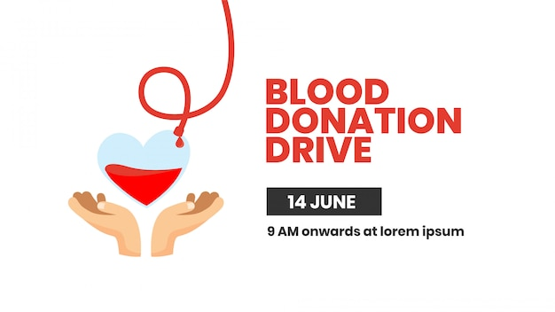 Blood donation drive poster design