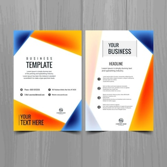 Blu e arancione brochure aziendale
