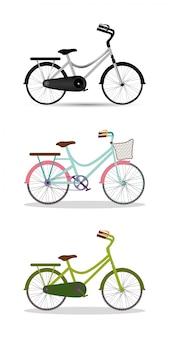 Blu grigio con design di biciclette rosa e verde, tema di sport e tempo libero stile di vita sano ciclo bicicletta veicolo
