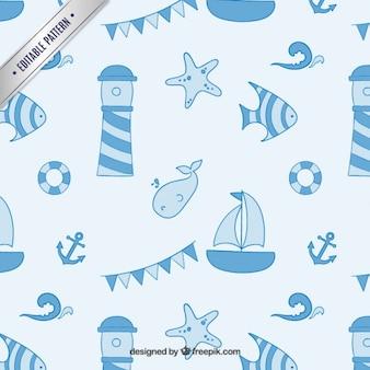 Blu nautico elementi di sfondo