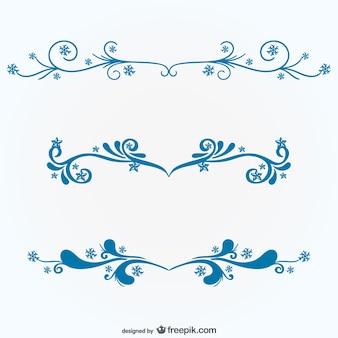 Blu ornamenti floreali