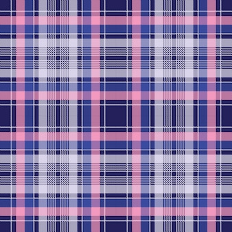 Blu rosa check plaid pixel seamless pattern