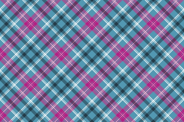 Blu rosa check plaid senza cuciture