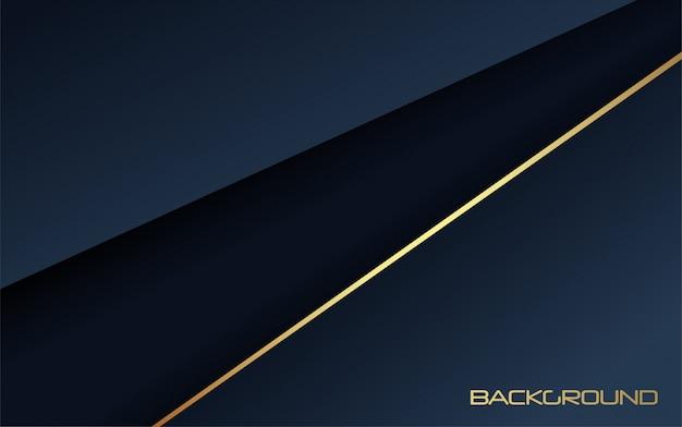 Blu scuro di lusso astratto con fondo oro