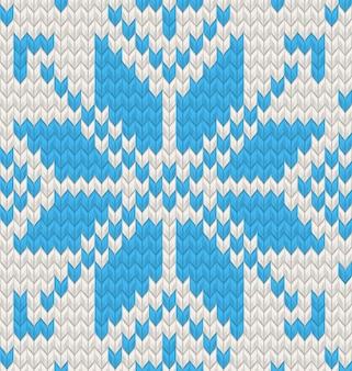 Blue jacquard fairisle seamless knitting pattern. e include anche
