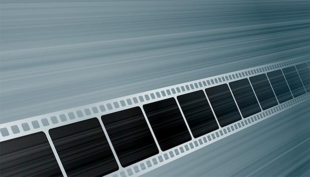 Bobina della striscia di pellicola di moview nel fondo di prospettiva