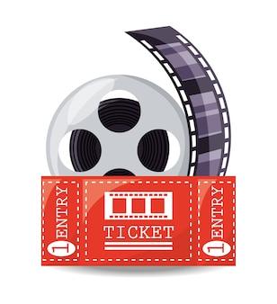 Bobina filmina con biglietto per cortometraggio