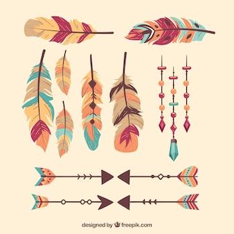 Boho confezione di piume e frecce