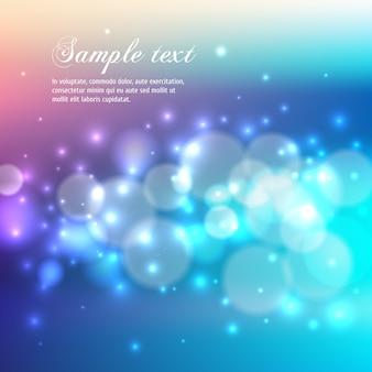 Bokeh blu astratto sfondo chiaro.