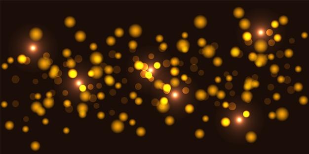 Bokeh di lusso glitter oro illumina la priorità bassa.