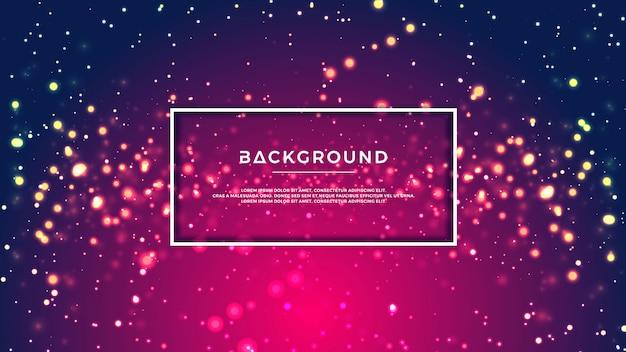 Bokeh incandescente colorato glitter sfondo